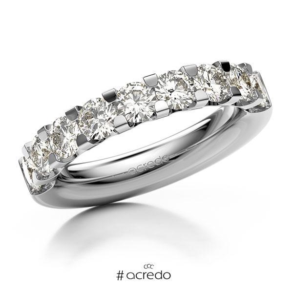 Memoire/Diamantring in Weißgold 585 halbausgefasst mit zus. 1,8 ct. Brillant tw, vs von acredo