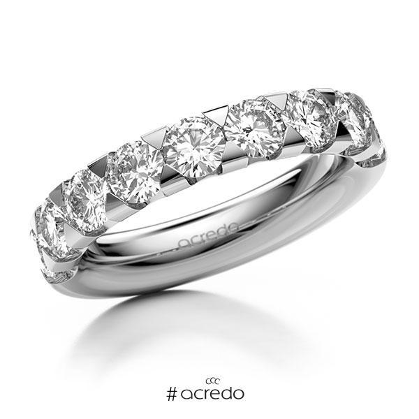 Memoire/Diamantring in Weißgold 585 halbausgefasst mit zus. 2,25 ct. Brillant tw, si von acredo
