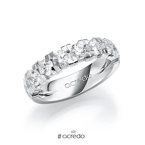 Memoire/Diamantring in Weißgold 585 halbausgefasst mit zus. 2,25 ct. Brillant tw, vs von acredo