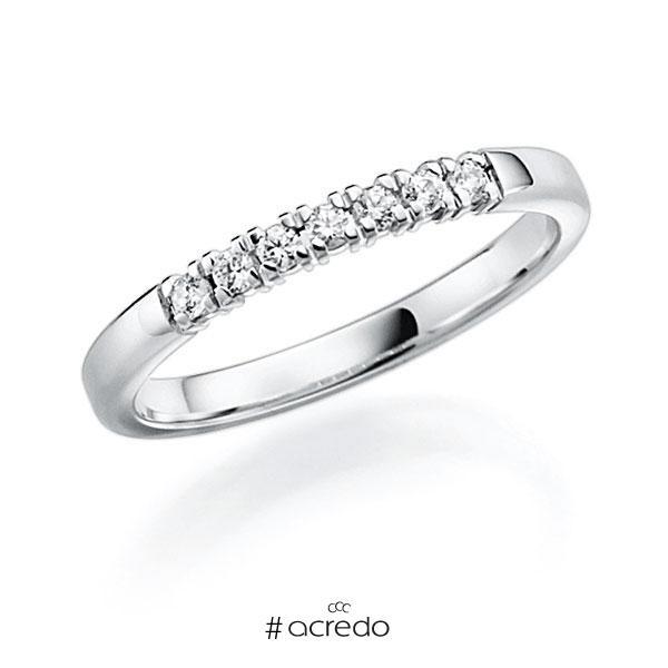 Memoire/Diamantring in Weißgold 585 mit zus. 0,14 ct. Brillant tw, vs von acredo