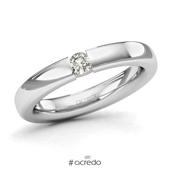 Memoire/Diamantring in Weißgold 585 mit zus. 0,15 ct. Brillant tw, si von acredo