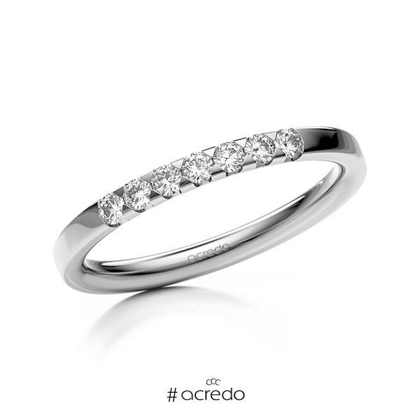 Memoire/Diamantring in Weißgold 585 mit zus. 0,21 ct. Brillant tw, si von acredo