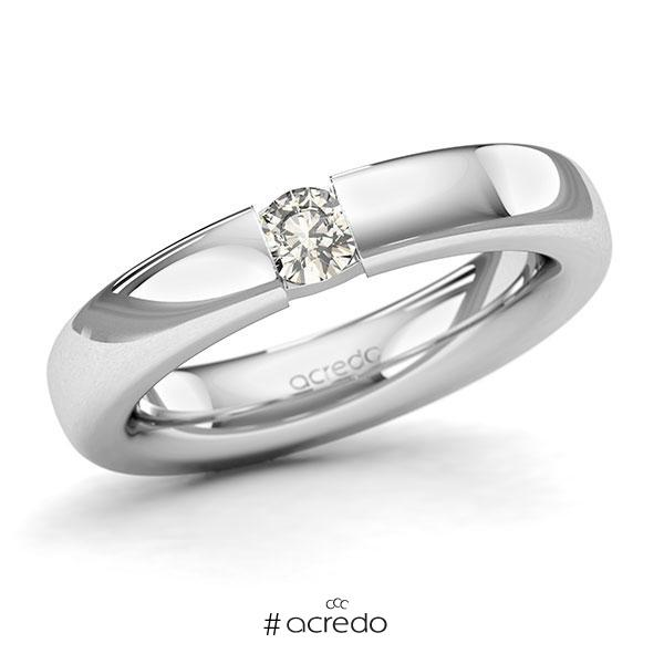Memoire/Diamantring in Weißgold 585 mit zus. 0,25 ct. Brillant tw, si von acredo