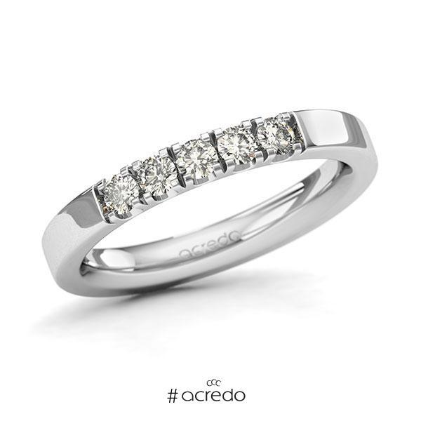 Memoire/Diamantring in Weißgold 585 mit zus. 0,35 ct. Brillant tw, si von acredo