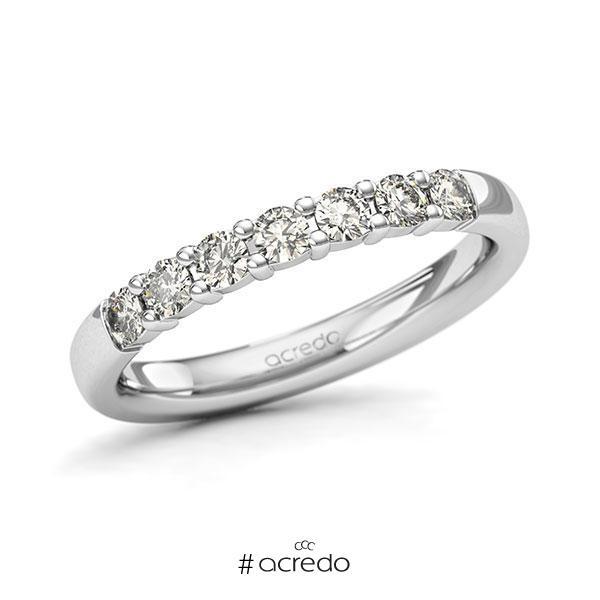 Memoire/Diamantring in Weißgold 585 mit zus. 0,42 ct. Brillant tw, si von acredo