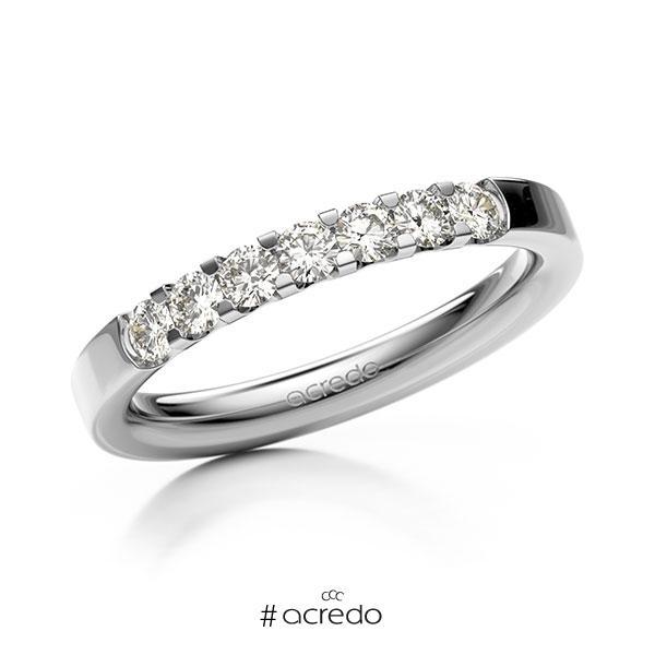 Memoire/Diamantring in Weißgold 585 mit zus. 0,42 ct. Brillant tw, vs von acredo