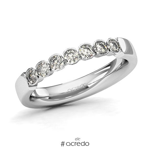 Memoire/Diamantring in Weißgold 585 mit zus. 0,49 ct. Brillant tw, si von acredo