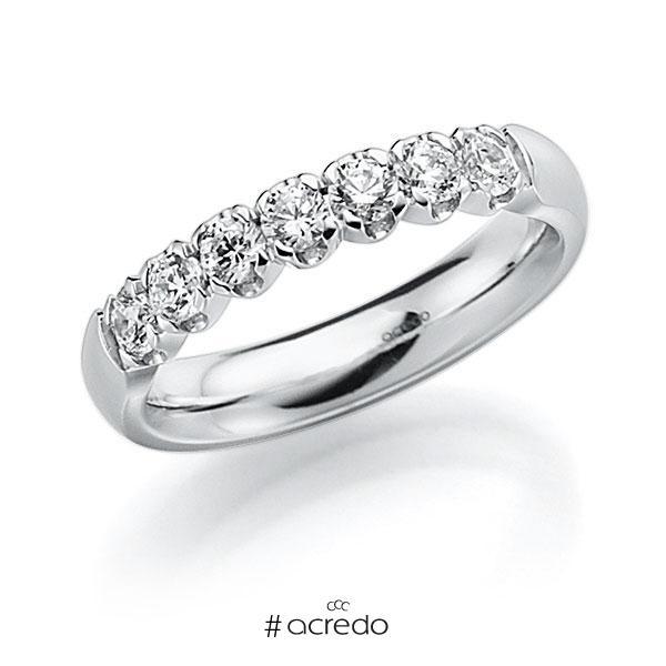 Memoire/Diamantring in Weißgold 585 mit zus. 0,49 ct. Brillant tw, vs von acredo