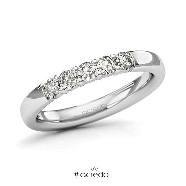 Memoire/Diamantring in Weißgold 585 mit zus. 0,4 ct. Brillant tw, si von acredo
