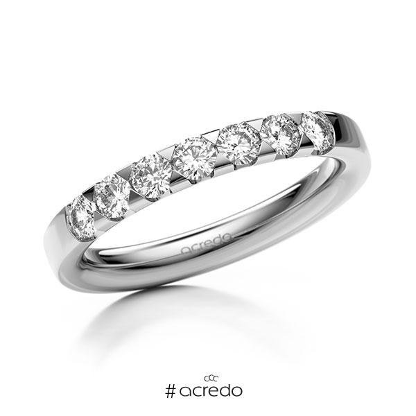 Memoire/Diamantring in Weißgold 585 mit zus. 0,56 ct. Brillant tw, si von acredo