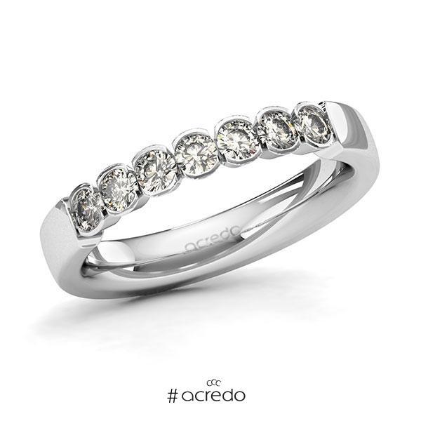 Memoire/Diamantring in Weißgold 585 mit zus. 0,56 ct. Brillant tw, si von acredo