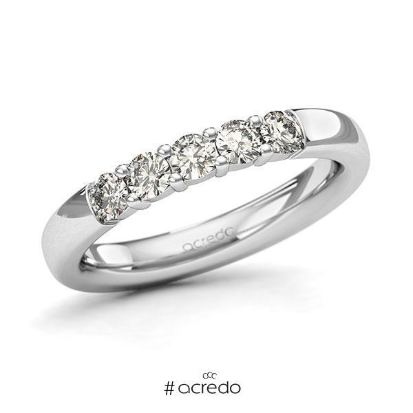 Memoire/Diamantring in Weißgold 585 mit zus. 0,5 ct. Brillant tw, si von acredo