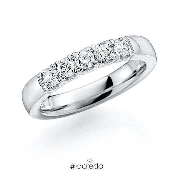Memoire/Diamantring in Weißgold 585 mit zus. 0,5 ct. Brillant tw, vs von acredo