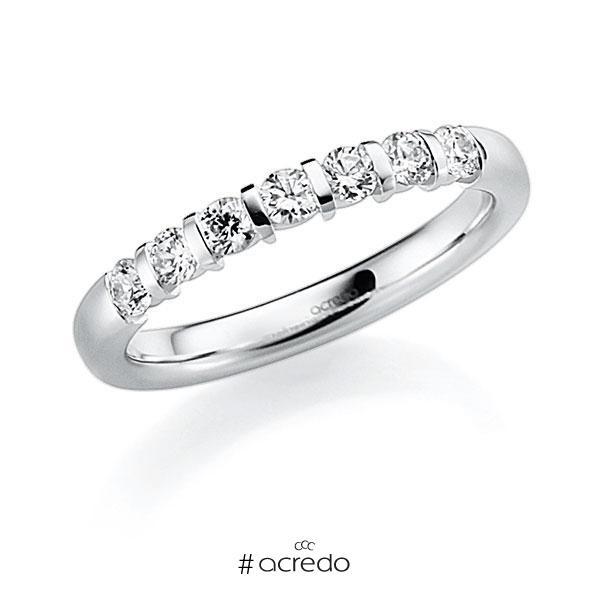 Memoire/Diamantring in Weißgold 585 mit zus. 0,63 ct. Brillant tw, vs von acredo