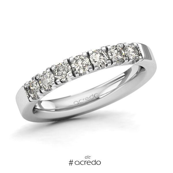 Memoire/Diamantring in Weißgold 585 mit zus. 0,7 ct. Brillant tw, si von acredo