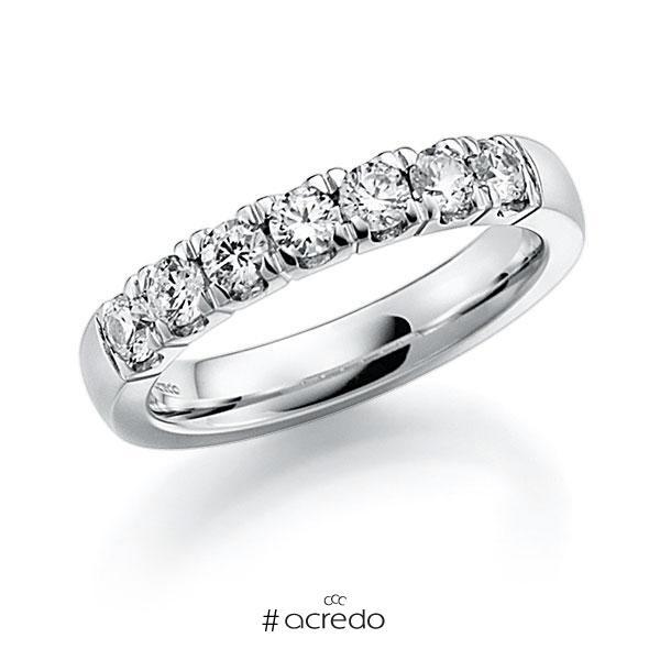 Memoire/Diamantring in Weißgold 585 mit zus. 0,7 ct. Brillant tw, vs von acredo