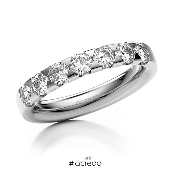 Memoire/Diamantring in Weißgold 585 mit zus. 1,05 ct. Brillant tw, si von acredo
