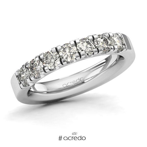 Memoire/Diamantring in Weißgold 585 mit zus. 1,05 ct. Brillant tw, si von acredo