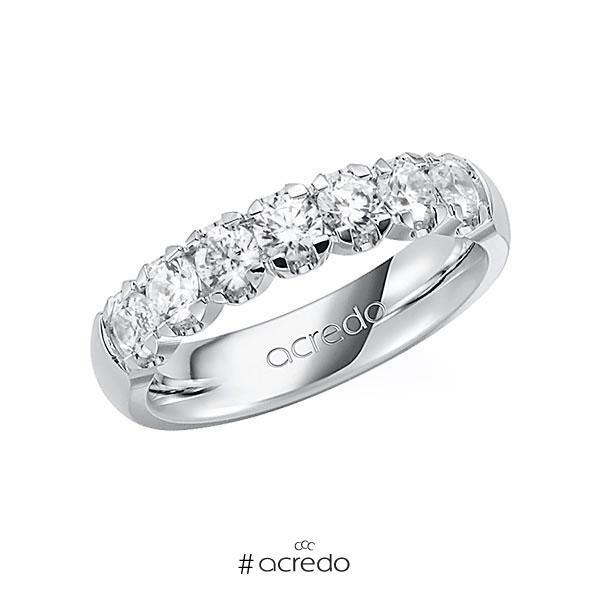 Memoire/Diamantring in Weißgold 585 mit zus. 1,05 ct. Brillant tw, vs von acredo