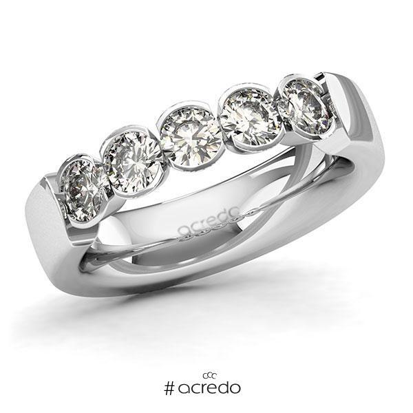 Memoire/Diamantring in Weißgold 585 mit zus. 1,25 ct. Brillant tw, si von acredo