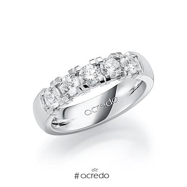 Memoire/Diamantring in Weißgold 585 mit zus. 1,25 ct. Brillant tw, vs von acredo