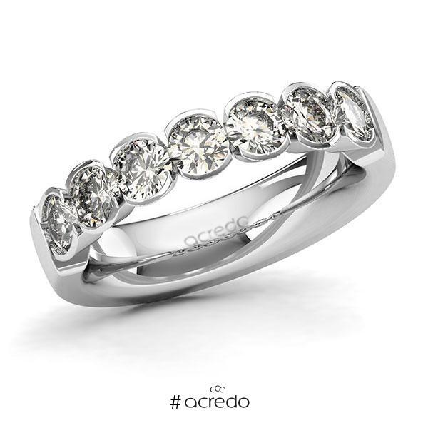Memoire/Diamantring in Weißgold 585 mit zus. 1,4 ct. Brillant tw, si von acredo