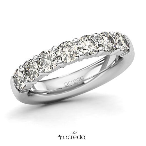 Memoire/Diamantring in Weißgold 585 mit zus. 1,75 ct. Brillant tw, si von acredo