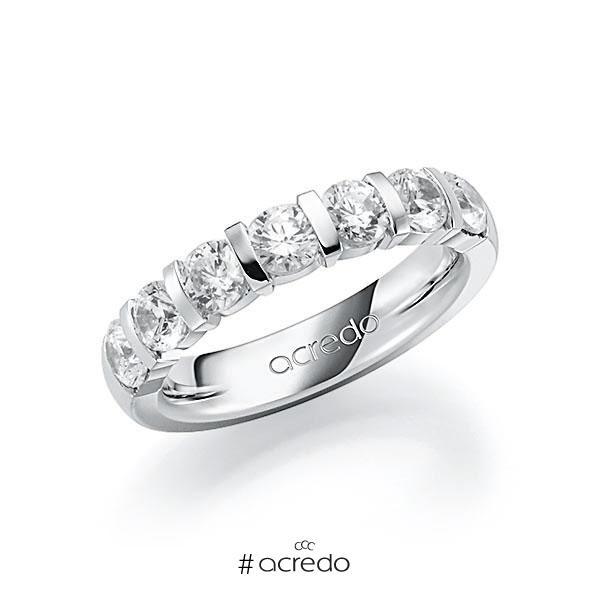 Memoire/Diamantring in Weißgold 585 mit zus. 1,75 ct. Brillant tw, vs von acredo