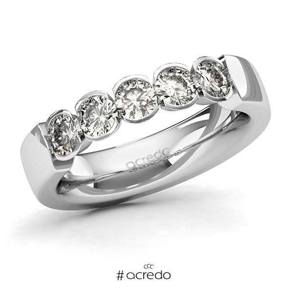 Memoire/Diamantring in Weißgold 585 mit zus. 1 ct. Brillant tw, si von acredo