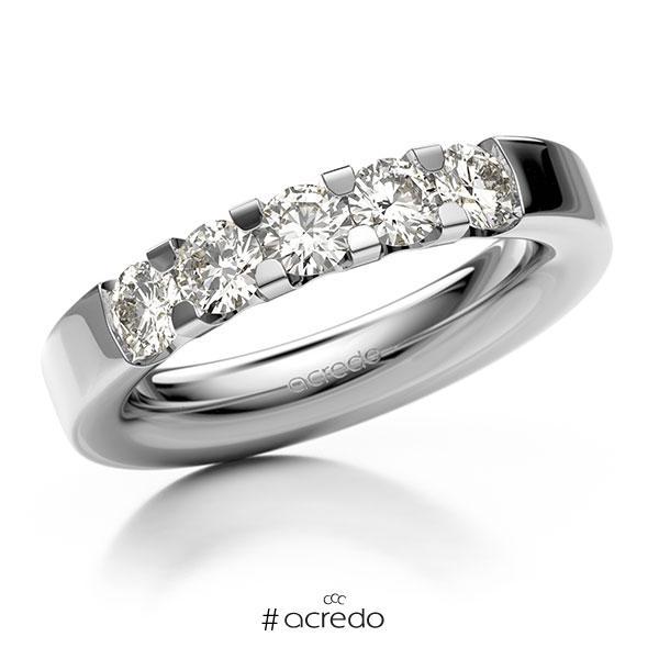 Memoire/Diamantring in Weißgold 585 mit zus. 1 ct. Brillant tw, vs von acredo