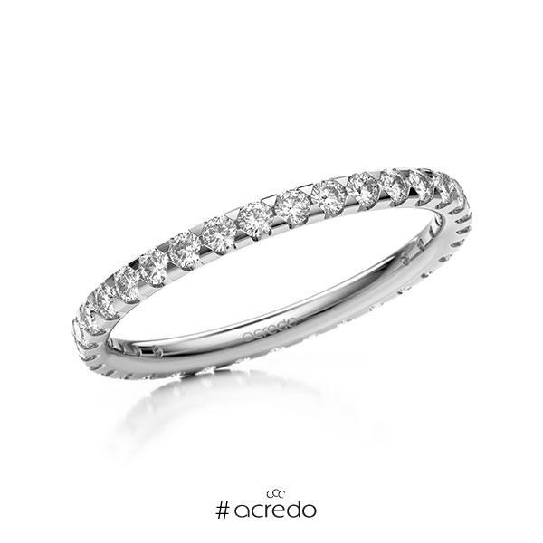 Memoire/Diamantring in Weißgold 585 vollausgefasst mit zus. 0,66 ct. Brillant tw, si von acredo