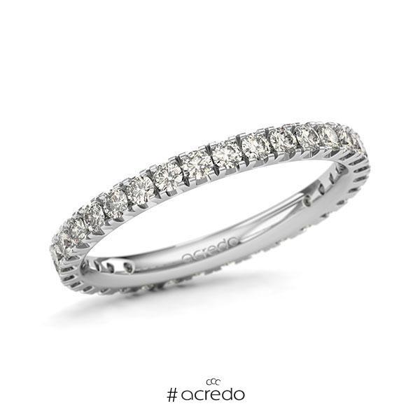 Memoire/Diamantring in Weißgold 585 vollausgefasst mit zus. 0,96 ct. Brillant tw, si von acredo