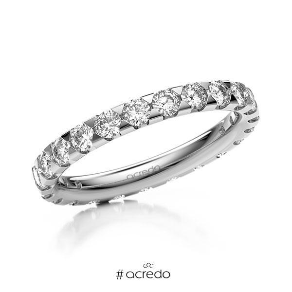 Memoire/Diamantring in Weißgold 585 vollausgefasst mit zus. 1,38 ct. Brillant tw, si von acredo