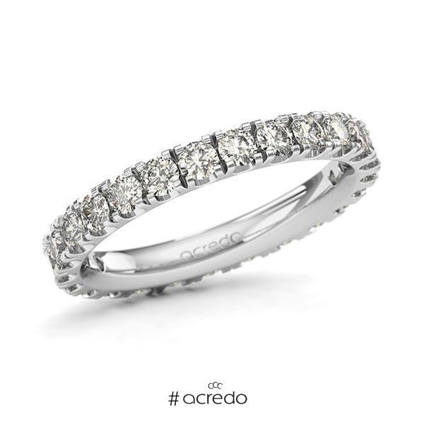 Memoire/Diamantring in Weißgold 585 vollausgefasst mit zus. 1,5 ct. Brillant tw, si von acredo