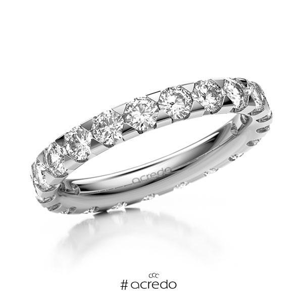 Memoire/Diamantring in Weißgold 585 vollausgefasst mit zus. 2,1 ct. Brillant tw, si von acredo