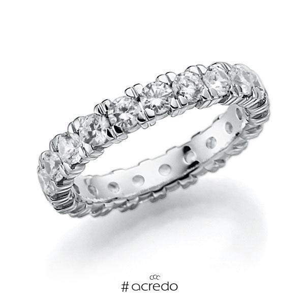 Memoire/Diamantring in Weißgold 585 vollausgefasst mit zus. 2,1 ct. Brillant tw, vs von acredo