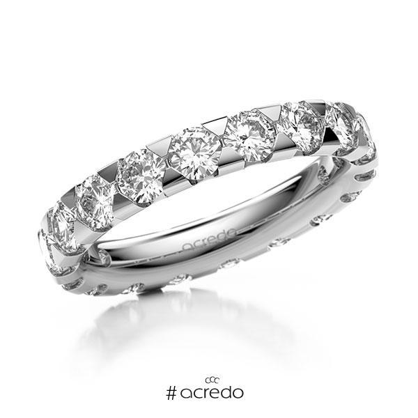 Memoire/Diamantring in Weißgold 585 vollausgefasst mit zus. 2,7 ct. Brillant tw, si von acredo