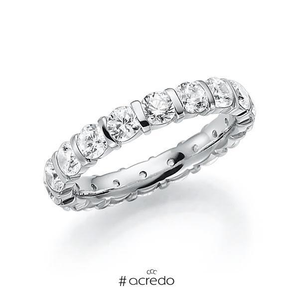 Memoire/Diamantring in Weißgold 585 vollausgefasst mit zus. 2,7 ct. Brillant tw, vs von acredo