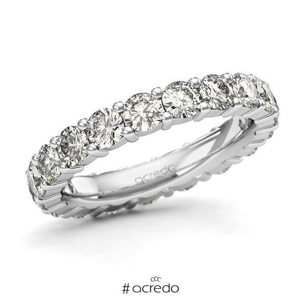 Memoire/Diamantring in Weißgold 585 vollausgefasst mit zus. 2,85 ct. Brillant tw, si von acredo