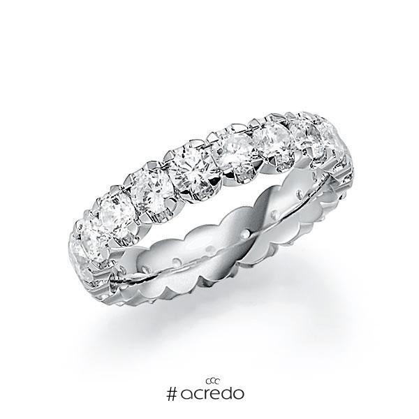 Memoire/Diamantring in Weißgold 585 vollausgefasst mit zus. 2,85 ct. Brillant tw, vs von acredo