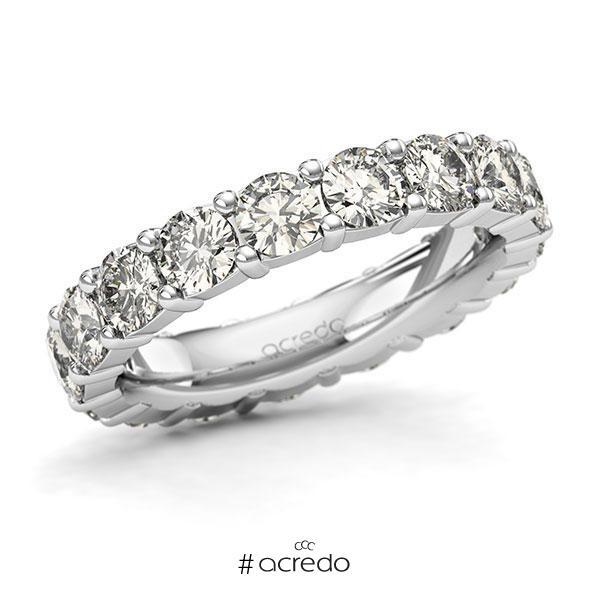 Memoire/Diamantring in Weißgold 585 vollausgefasst mit zus. 3,4 ct. Brillant tw, si von acredo