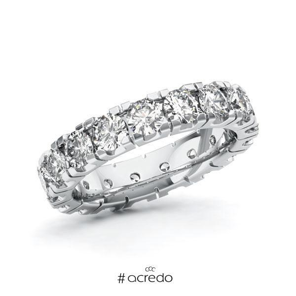 Memoire/Diamantring in Weißgold 585 vollausgefasst mit zus. 3,4 ct. Brillant tw, vs von acredo