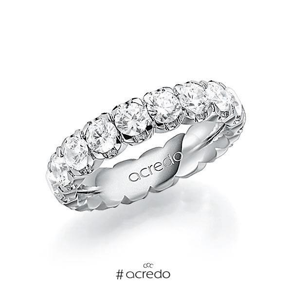 Memoire/Diamantring in Weißgold 585 vollausgefasst mit zus. 3,6 ct. Brillant tw, vs von acredo