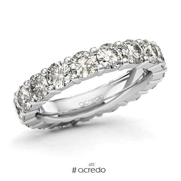 Memoire/Diamantring in Weißgold 585 vollausgefasst mit zus. 4,25 ct. Brillant tw, si von acredo
