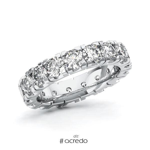 Memoire/Diamantring in Weißgold 585 vollausgefasst mit zus. 4,25 ct. Brillant tw, vs von acredo