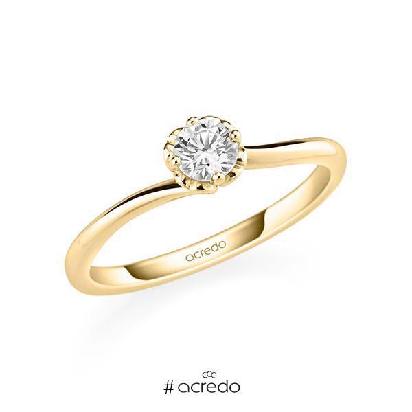 Verlobungsring in Gelbgold 585 mit 0,3 ct. Brillant tw, si von acredo