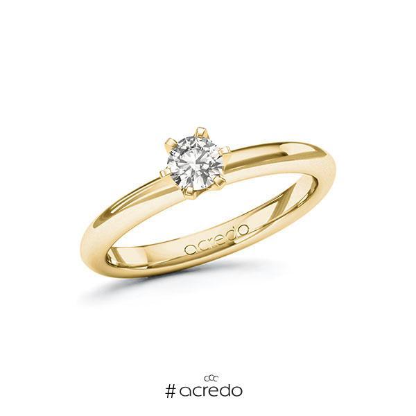 Verlobungsring in Gelbgold 585 mit 0,3 ct. tw, si von acredo