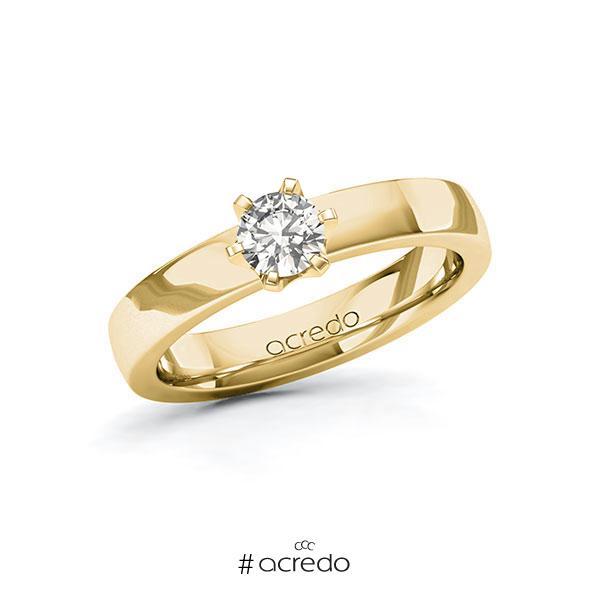 Verlobungsring in Gelbgold 585 mit 0,4 ct. tw, si von acredo