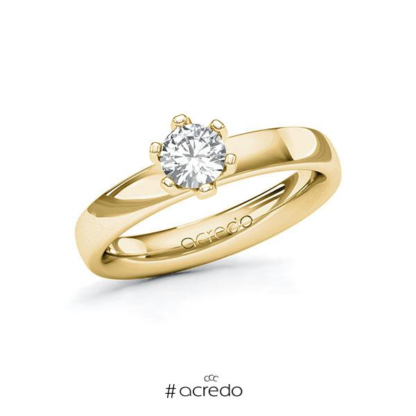 Verlobungsring in Gelbgold 585 mit 0,5 ct. Brillant tw, si von acredo