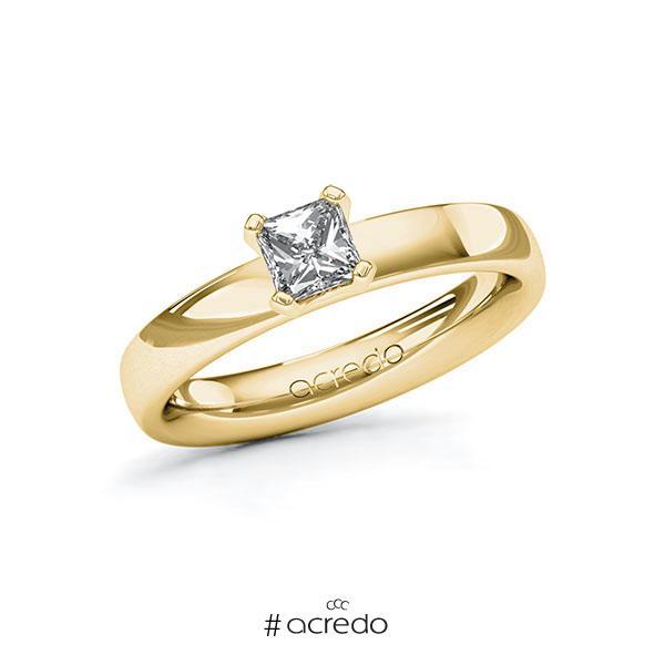 Verlobungsring in Gelbgold 585 mit 0,5 ct. Brillant tw, vs von acredo